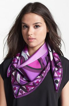 Emilio Pucci 'Mikonos' Silk Scarf available at #Nordstrom