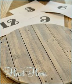 easy diy pallet clock, crafts, home decor, outdoor living, pallet, repurposing upcycling, After sanding the wood smooth I found numbers I liked Fancypants Font and printed them in the right size I cut out the numbers and traced them with a pencil onto the wood