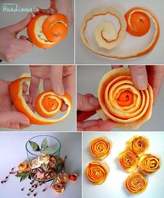 A Visual Guide for Making Orange Peel Flowers!