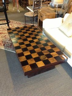 Checkered Coffee Table Found At Design With Consignment In Austin,Tx