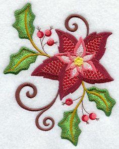 Jacobean Christmas Poinsettia 1