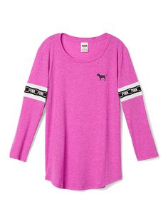 Slouchy Crewneck Tee - PINK - Victoria's Secret from VS PINK