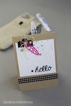 Jolie carte et belle idée pour glisser un petit mot ou une carte cadeau !