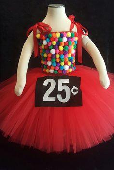 Gumball Machine tutu dress costume by Fancythatcreation on Etsy Tutu Costumes Kids, Candy Costumes, Diy Halloween Costumes For Kids, Halloween Kostüm, Halloween Inspo, Woman Costumes, Mermaid Costumes, Couple Costumes, Pirate Costumes
