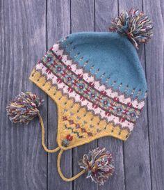 Fair Isle and Norwegian knitting patterns-Sagebrush Chullo Knitting Pattern PDF Fair Isle Knitting Patterns, Knitting Kits, Knitting For Kids, Loom Knitting, Baby Knitting, Hat Patterns, Crochet Hat Earflap, Knitted Hats, Crochet Hats