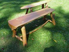 Natural Tree Furniture Rustic Slab Bench