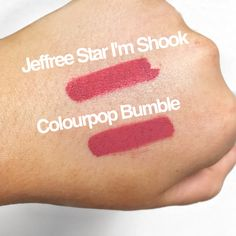 Jeffree Star Im Shook dupe/Kylie Kristen dupe/ mannymua Im Shook dupe Jeffree Star Cosmetics Dupe, Lipstick Dupes, Lipstick Colors, Lip Colors, Lipstick Swatches, Eye Makeup Brushes, Makeup Dupes, Makeup Products, Beauty Products