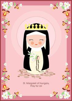 January 18--St. Margaret of Hungary, patron saint against floods. St. Margaret, pray for us!