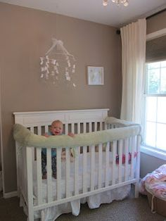 Crib Bumper as Rail Protector from teething baby.