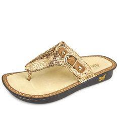 7d0b236c9e3e Click here for AlegriaShoeShop.com and the Vanessa Posh Gold sandal by  Alegria Shoes.