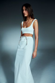 Christopher Esber Spring 2020 Ready-to-Wear Fashion Show - Vogue Vogue Paris, Yellow Suit, Christopher Esber, Tie Skirt, Scoop Neck Dress, Fashion Show Collection, Fashion Catalogue, Models, Dress Backs