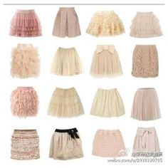 "More than one of the these ""fluffy/girly"" skirts should be in my closet :)"