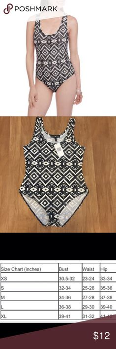 Tribal print bodysuit Brand new with tag, juniors sizing. Material: 92% polyester 8% spandex. Snap button closure at bottom Derek Heart Tops