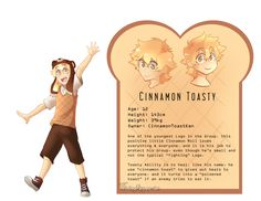 Cinnamon Toasty - Character Sheet Reference by FloatingMegane-san on DeviantArt
