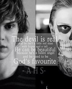 bullet-proof-love-ptv:  the devil is real and he isn't a little red man with horns and a tail. He can be beautiful because he's a fallen angel and he used to be god's favourite