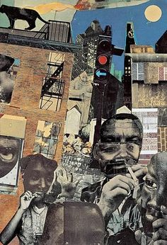 collaged landscape Romare Bearden