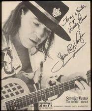 Autographed Steve Ray Vaughan, Music Land, Texas Flood, Texas Music, Buddy Guy, Best Guitarist, Marvin Gaye, Stevie Ray, Blues Music
