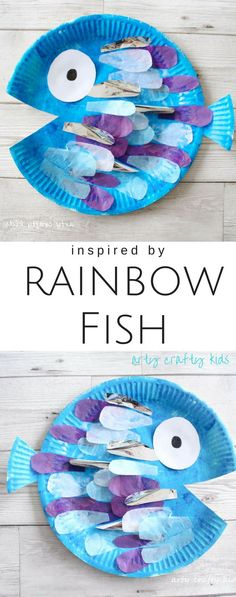 Paper Plate Rainbow Fish Craft Arty Crafty Kids Book Club Craft Ideas For Kids The Perfect Fish Craft For Kids Who Love The Book Rainbow Fish Paper Plate Art, Paper Plate Fish, Paper Plate Crafts For Kids, Book Crafts, Paper Plates, Fish Plate, Paper Art, Rainbow Fish Crafts, Ocean Crafts