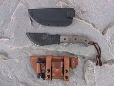 tom-brown-tracker-survival-knife with hedgehog leatherworks custom sheath.