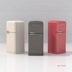 Smeg Refrigerator | 3D Model