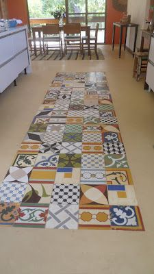 Cement Floor With Tile Inlay Fantastic Idea For Budget Flooring