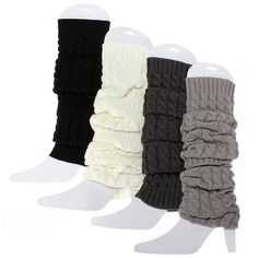 Women Knee High Leg Socks Winter Knit Crochet Warmers Legging - US$4.98
