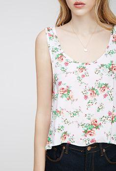 Floral Print Side-Slit Top | Forever 21 - 2000117731