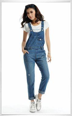 jumpsuits for plus size woman 2015 | New rompers womens jumpsuit 2014 plus size bib overalls women cotton ...