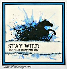 'Stay Wild' is a beautiful horse stamp set from Visible Image. The horse-lover will have so much fun stamping with this set. Horse Cards, Image Stamp, Western Theme, Stay Wild, Animal Cards, Watercolor Cards, Masculine Cards, Silhouette Projects, Clear Stamps