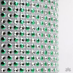Add bling to your cake with Glam Ribbon Diamond Cake Wraps. Perfect for cake decorating rolled fondant cakes & wedding cakes. Cake decoration. Diamond Mesh. Green Polka Dot Glam Ribbon - Cake Wrap