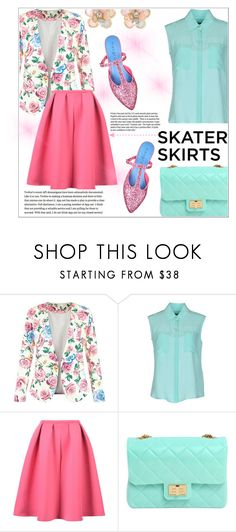 """""""Skater skirts!"""" by ladybug-100 ❤ liked on Polyvore featuring New Look, Tru Trussardi, WithChic, Design Inverso, Garance Doré, macgraw, Mixit, skaterSkirts and polyvorecontest"""