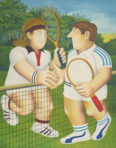 Artist: Beryl Cook, British (1927 - 2008) Title: Tennis Medium: Lithograph, signed and numbered in pencil Edition: 300 Size: 34 in. x 27 in. (86.36 cm x 68.58 cm)