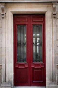 Paris Photo – The Red Door, Parisian Architecture, Fine Art Photograph, Urban Home Decor, Wall Art