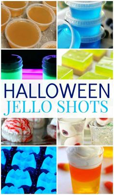 The perfect start to any adult Halloween party, these spooktacular Halloween jello shots. They are right up any of your guests' alley. One of the perfect starts to any adult Halloween party is the Halloween jello shots. Halloween Cocktails, Halloween Snacks, Halloween Jello Shots, Halloween Food For Party, Easy Halloween, Halloween Decorations, Adult Halloween Drinks, Women Halloween, Outdoor Halloween