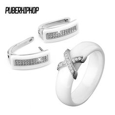 White Stainless Steel Jewelry Set