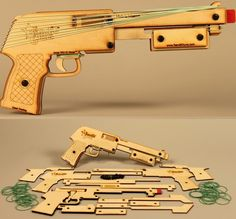 Awesome, rubber band gun. Could have used this at school.