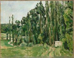 Paul Cezanne, Les Peupliers