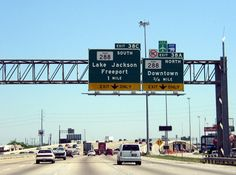 Interstate Loop 610 encircles the city of Houston, Texas, circulating traffic to regional corridors along IH 45 and Lake Jackson Texas, Freeport Texas, Brazoria County, Galveston, Going Home, Weekend Getaways, Signage, Places To Go, City