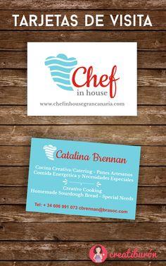 Pronto verá la luz la web el proyecto de Catalina, de Chef in house Gran Canaria. Por ahora os puedo adelantar el #logo y las #tarjetas :)