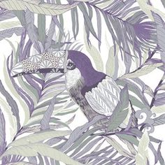 The colorful Kuiske wallpaper is designed by Riina Kuikka for Vallila. The wallpaper has an exotic pattern with toucans and is printed on a non-woven base for easy paste-the-wall which makes it very easy to handle. Put the wallpaper in a living room or maybe in a children´s room