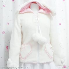 "gasaii:  Bunny hoodie ♥ discount code: ""strawberry"""