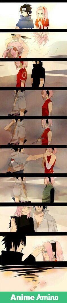 SasuSaku through time. We all ship them so hard ;-;