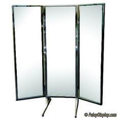 Free Standing 3-Way Alcove Mirror