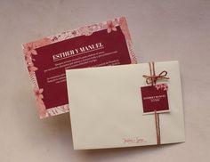 Diseño de invitaciones en color marsala y rosa cuarzo