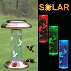 Solar Hummingbird Feeder