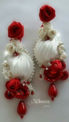 ' Andalusia ' shibori silk earrings designed by Mhoara Jewels