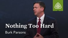 Burk Parsons: Nothing Too Hard - YouTube Reformed Theology, Teaching, Youtube, Education, Youtubers, Youtube Movies, Onderwijs, Learning, Tutorials