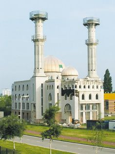 The Essalaam Mosque in Rotterdam, Netherlands is one of Western Europe's biggest