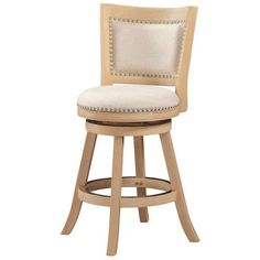 "One Allium Way Hettinger 24"" Swivel Bar Stool & Reviews 