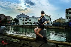 Sapphire Ng | Malacca Shoot - Cool and Sexy. Location: Jonker Street. Makeup and Styling by Hazel. Mike S Photography.